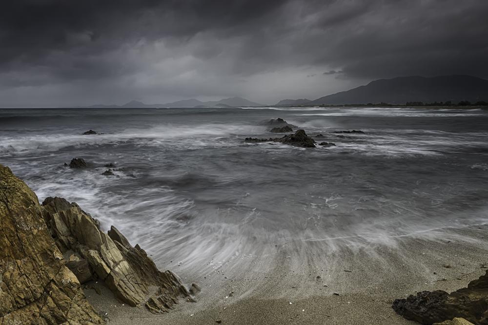 Storm en regen